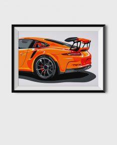 Porsche-911-GT3-poster-art-framed