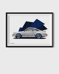 Porsche-911-rs-poster-art-framed