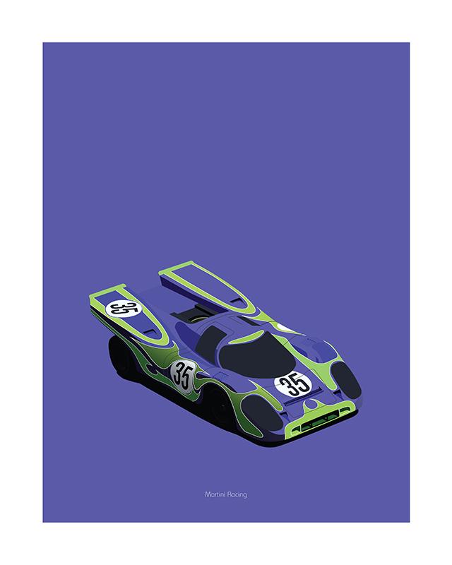 Porsche 917 Hippie poster