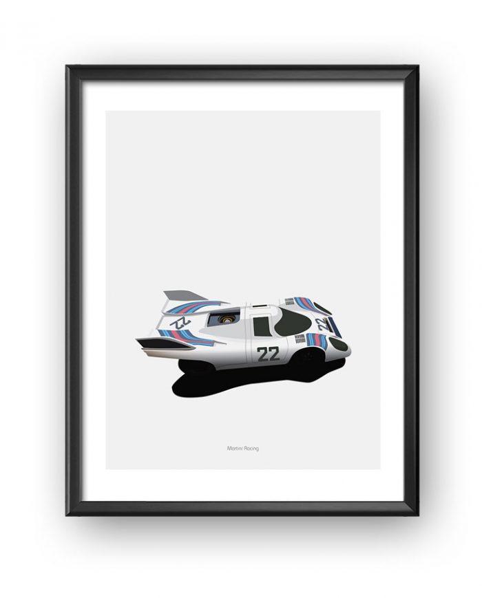 Porsche Martini poster