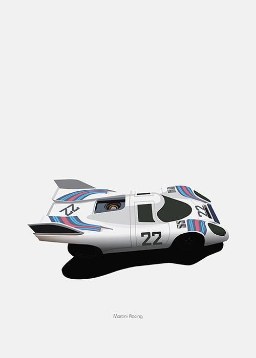 Porsche 917 Martini livery poster