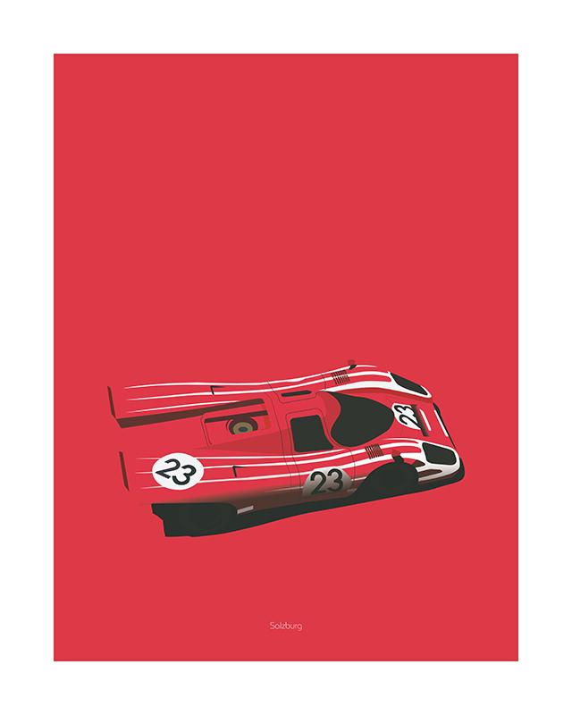Porsche 917 poster art