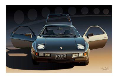 Porsche 928 art