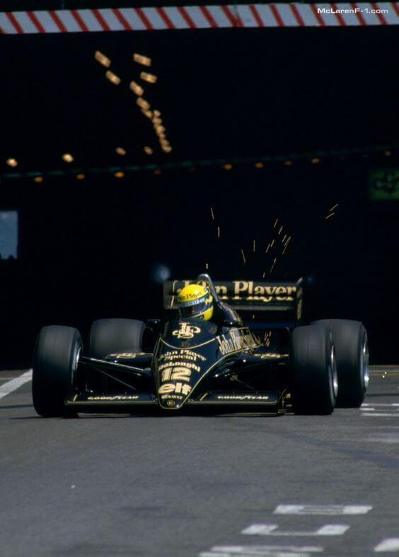 Ayrton Senna Lotus 97T Renault Turbo Grand Prix Monaco