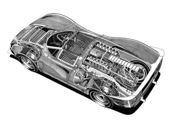 Ferrari 330 P4 cutoff