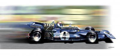 Jackie Stewart Tyrell 003-art-poster