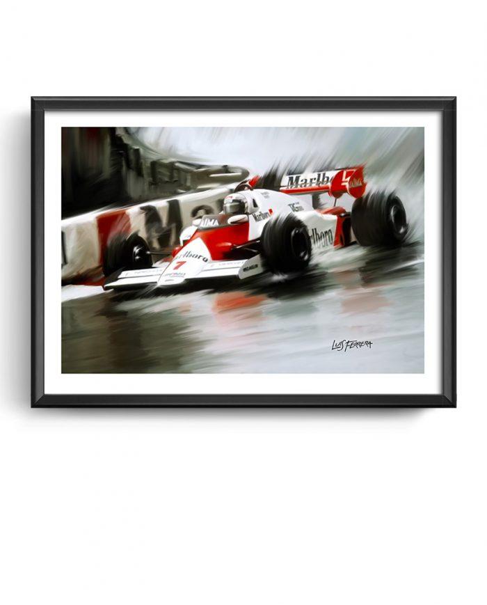 F1 McLaren art framed