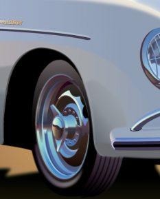 Porsche-356-Speedster-poster-art