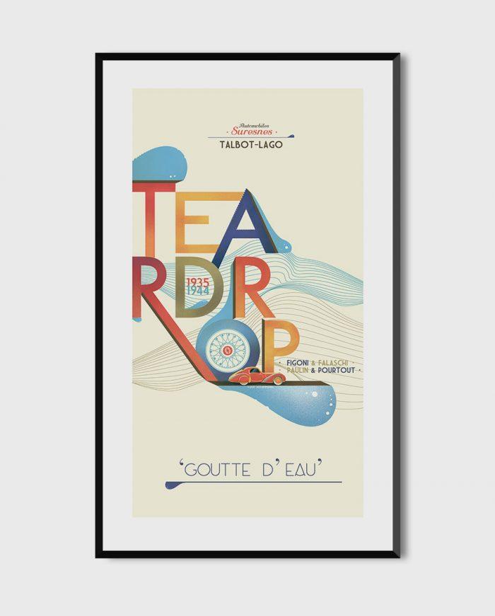 Talbot-Lago Teardrop art I