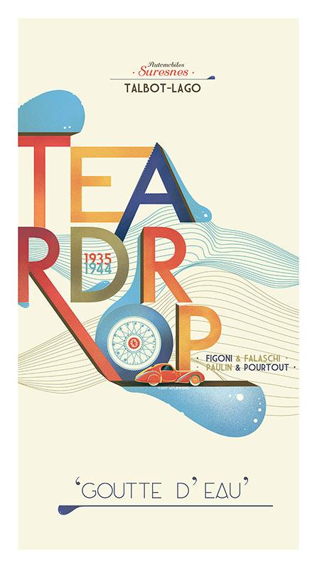 Talbot-Lago Teardrop poster
