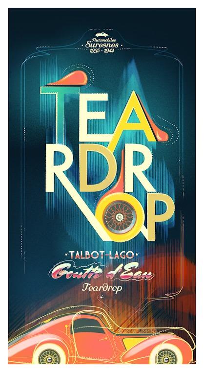 talbot-lago-teardrop-poster