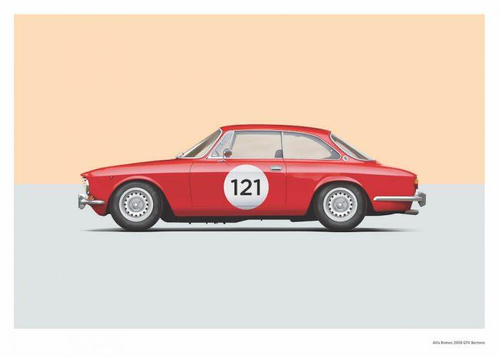 Alfa Romeo GTV 2000 poster