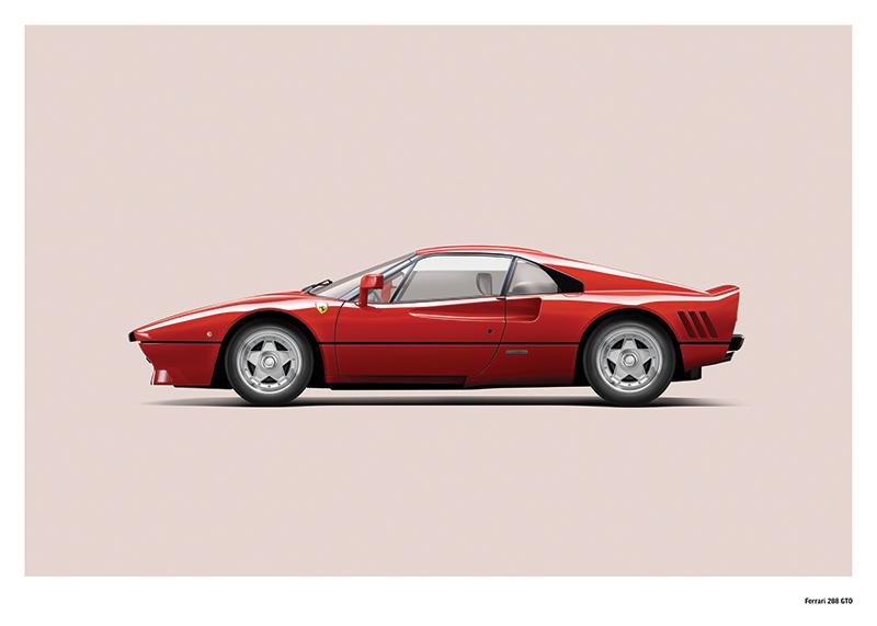 Ferrari 288 Gto Art Print Simply Petrol