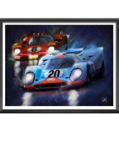 Le-Mans-movie-Porsche-Ferrari-duel-art