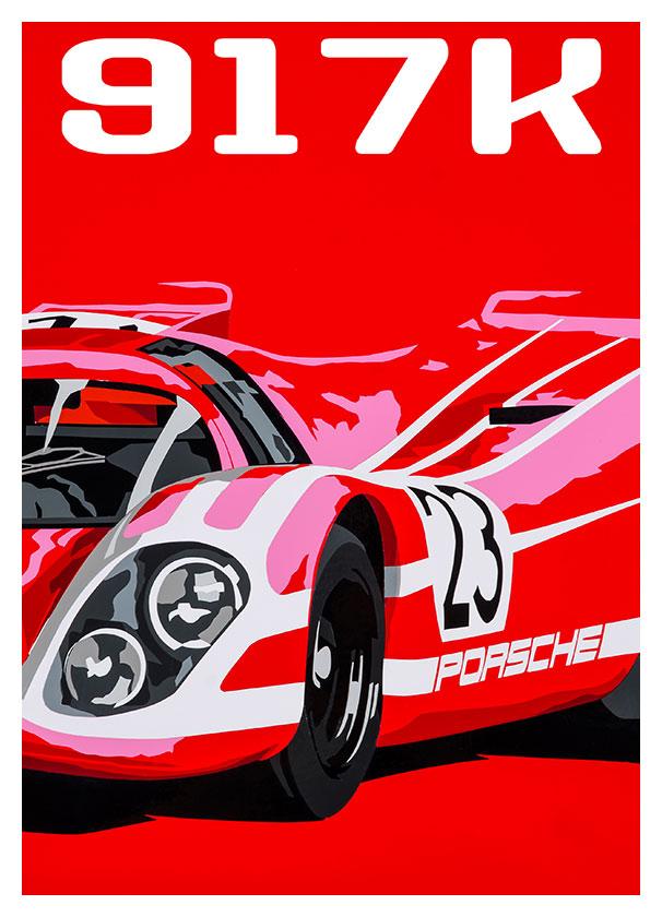 Porsche 917 Kurzheck poster
