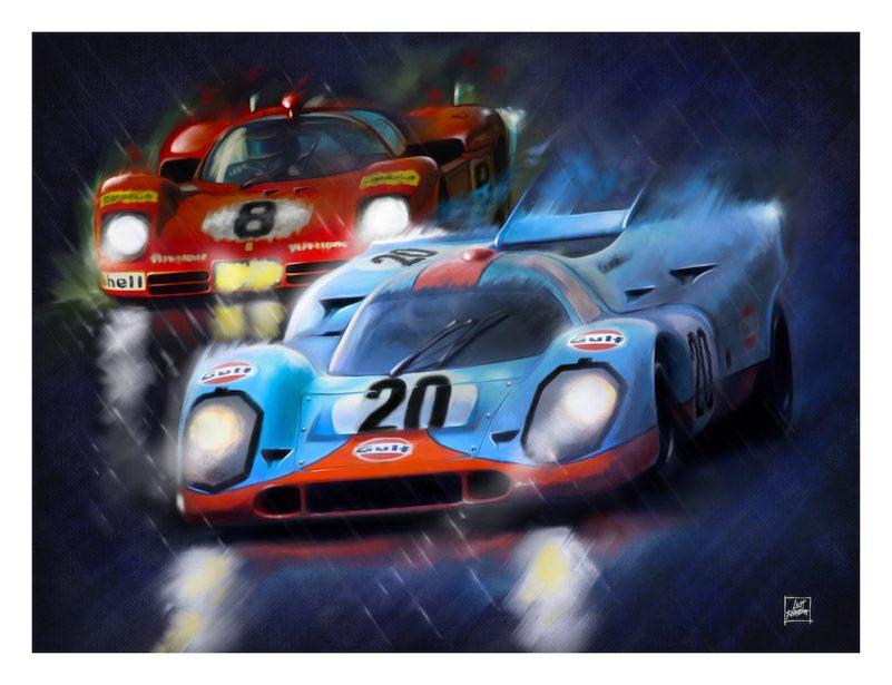 Porsche_917_Ferrari_12 M_The duel_Le-Mans