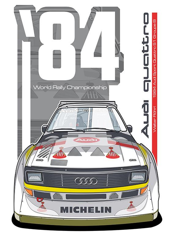 Audi Quattro S1 poster art
