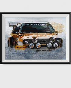 Audi-Sport-Quattro-Group-B-poster-art-print-framed