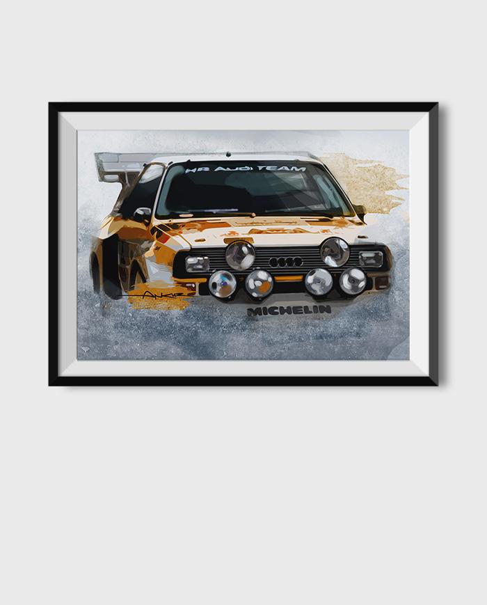 Audi Quattro poster art