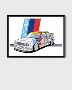 BMW_M3-E30_DTM_poster-art-print-framed