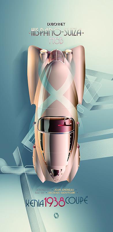 Hispano-Suiza Xenia Dubonnet poster 1 framed