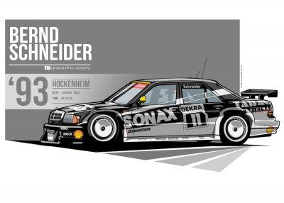 Mercedes-Benz_190E 2.5-16 Evo II DTM-poster-art