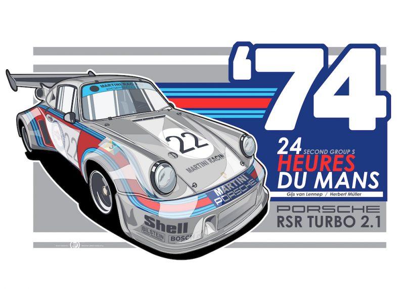 Porsche_911-RSR_Turbo-2.1_Le-Mans-art-poster