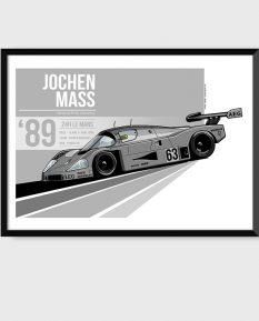 Sauber-Mercedes-C9-art-poster-framed