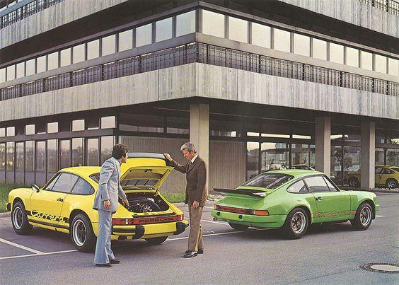 Porsche 911 Carrera 2.7 RS and Porsche 911 3.0 art
