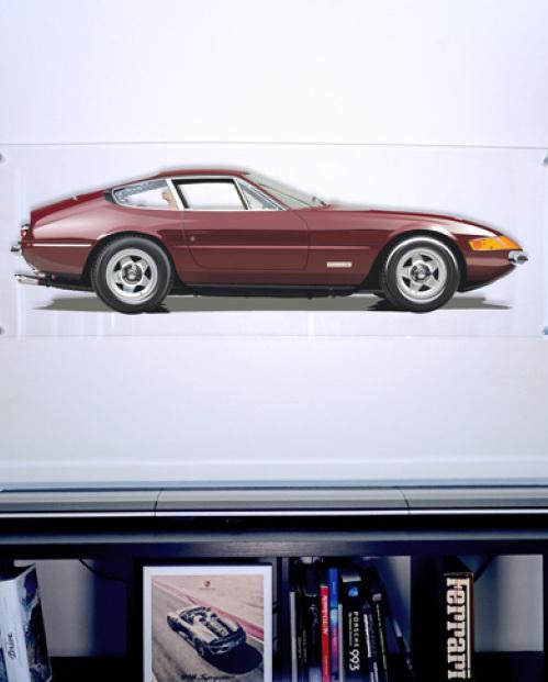 Ferrari Daytona garage art