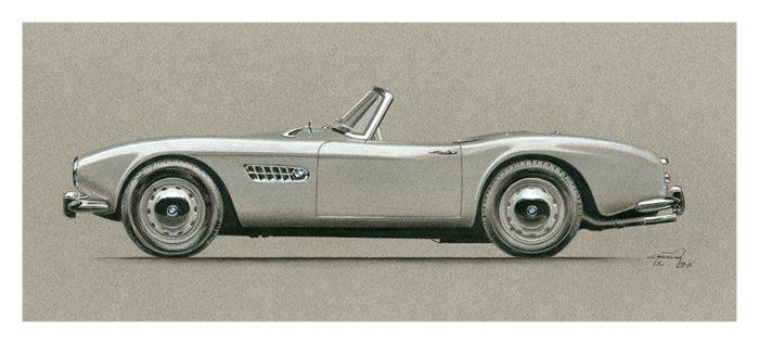 BMW 507 art