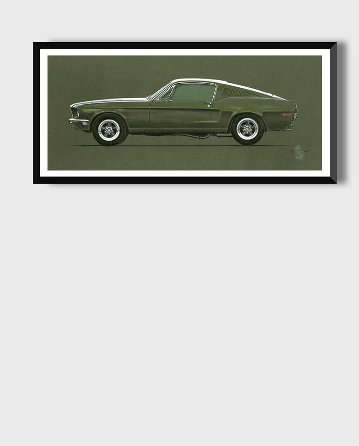 Ford Mustang Bullitt art print