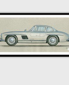 Mercedes-300-SL-art-print