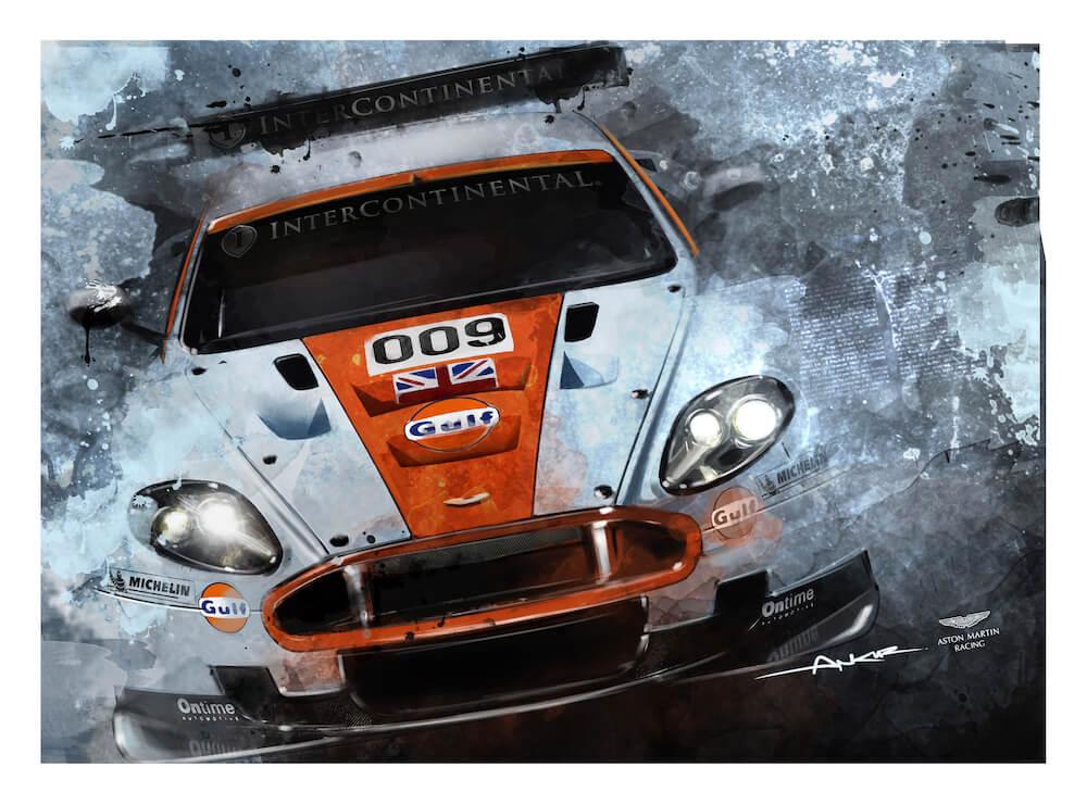 Aston Martin Dbr9 Art Print Simply Petrol