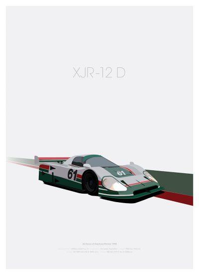 Jaguar XJR 12D poster
