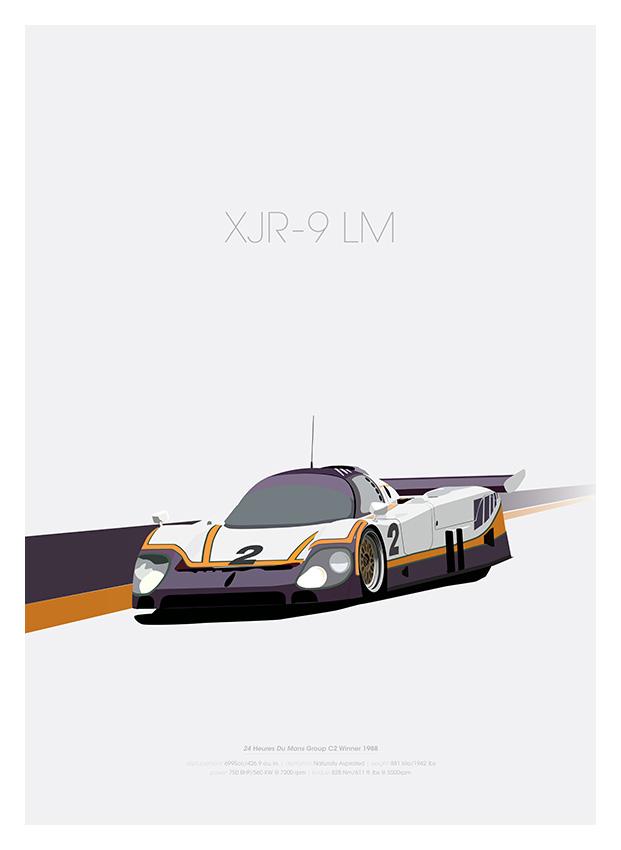 Jaguar XJR-9 LM poster