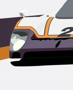 Jaguar_XJR9_LM_poster_print_detail