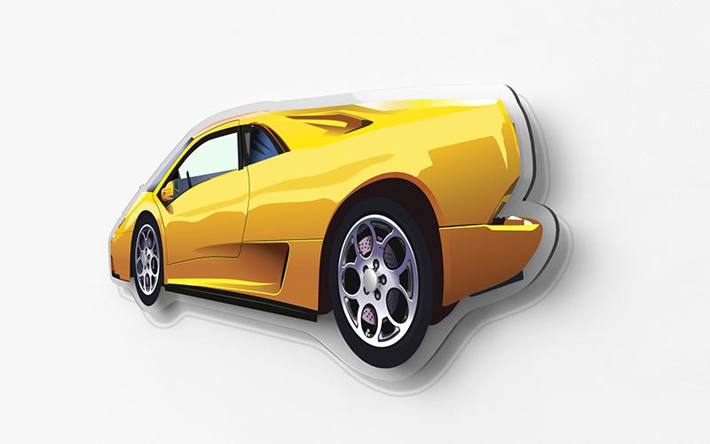 Lamborghini Diablo Silhouette Print Simply Petrol
