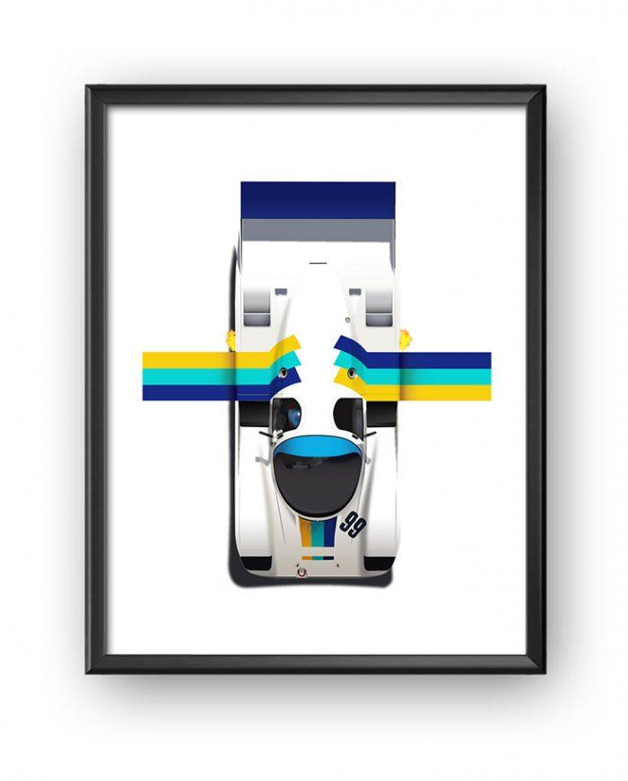 Porsche 962C Greddy poster