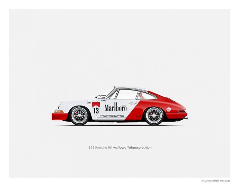 Porsche 911 Marlboro poster print
