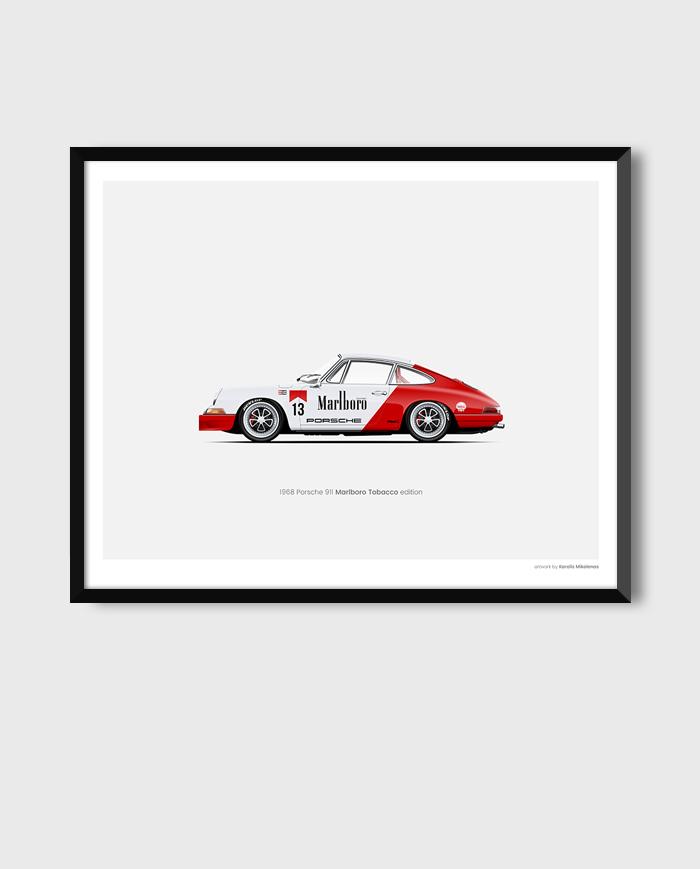 Porsche 911 Marlboro poster