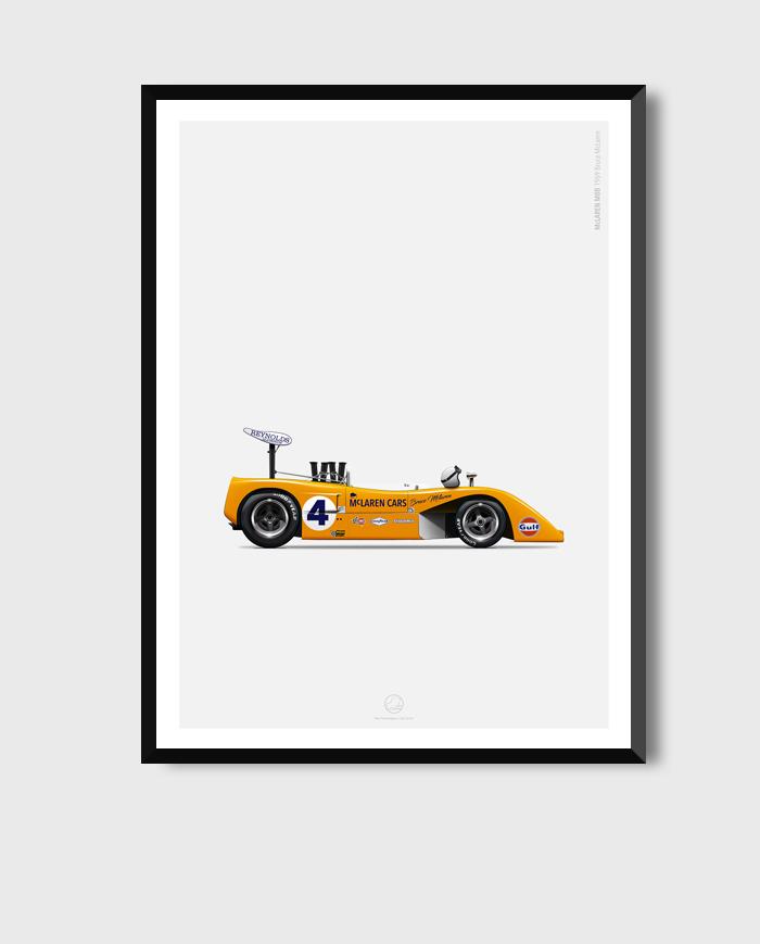 McLaren-M8B-poster-art-framed
