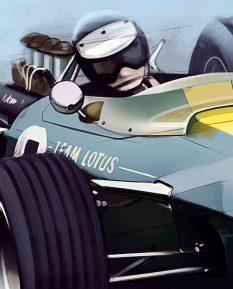 Jim-Clark-Lotus-49-art-1