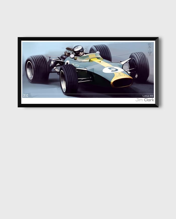 Lotus 49 poster