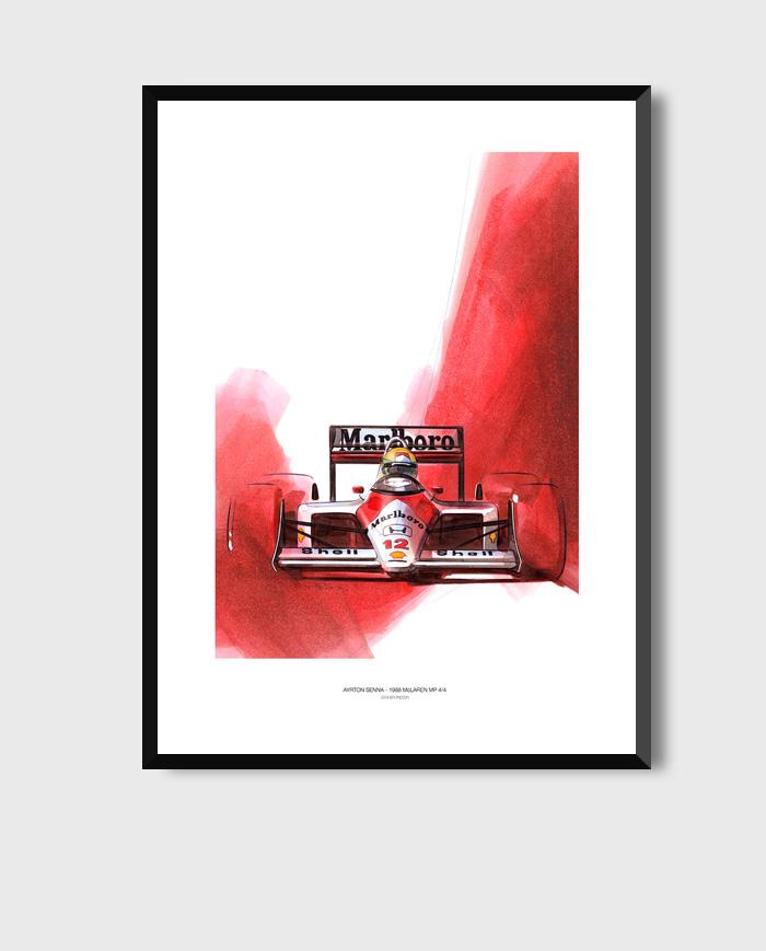 Senna McLaren art