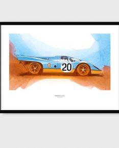 Gulf_Porsche_art_frame