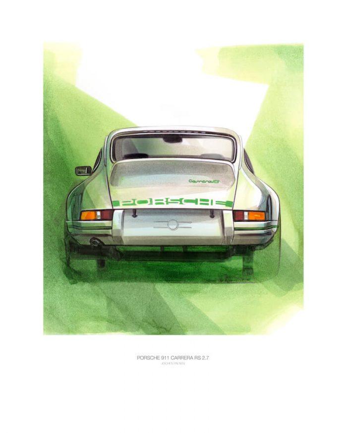 Porsche_Carrera RS-911_vintage-art