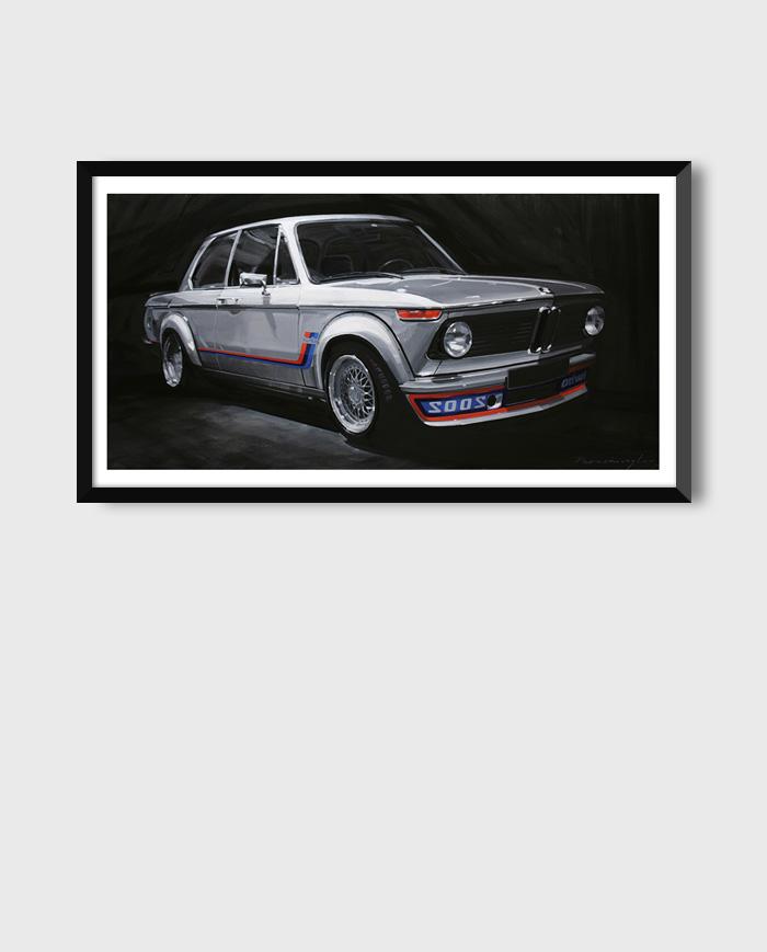BMW 2002 turbo poster