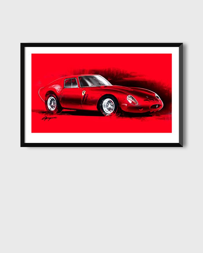 Ferrari 250 GTO art
