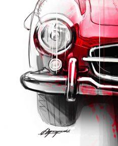 Mercedes-Benz-300SL-Gullwing-art-detail